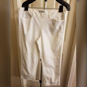 White Slim Ankle Length Pants